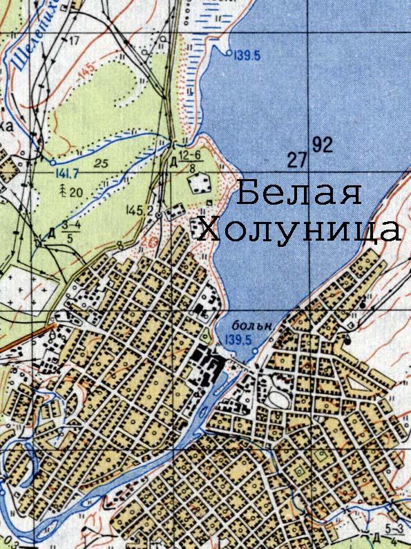 Топографическая карта города