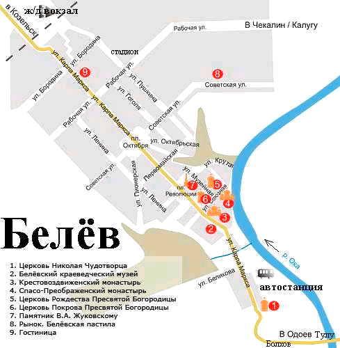 Электронные карты: http://gps-map.net/karta-goroda/belev.html