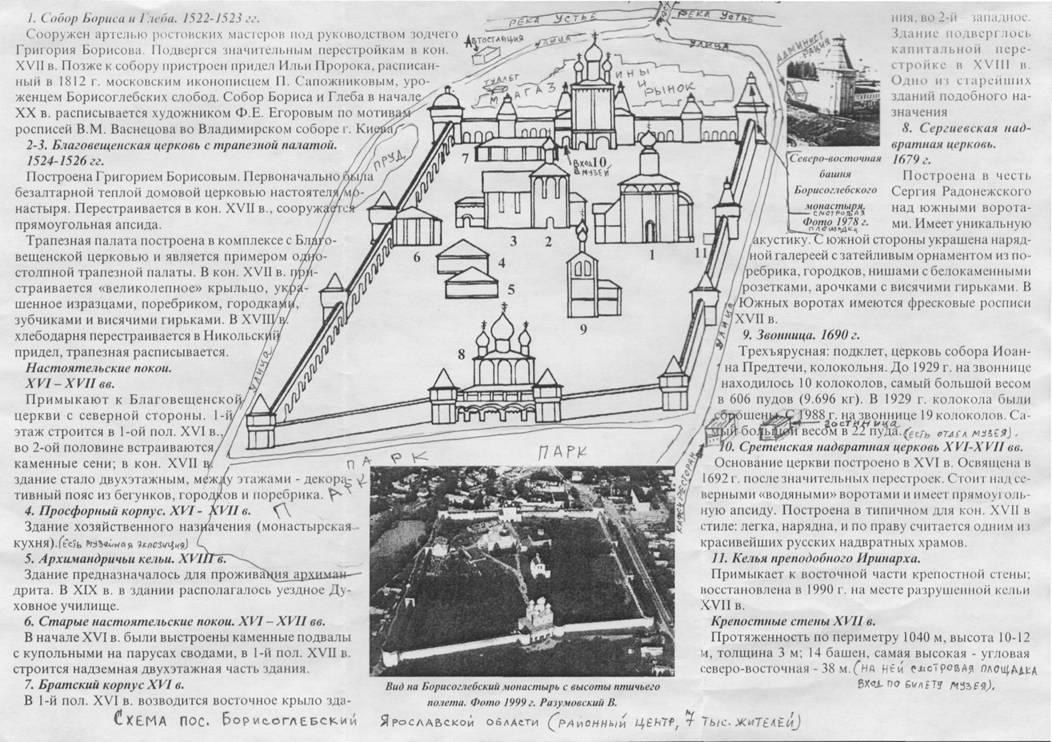 Схема центра пос.