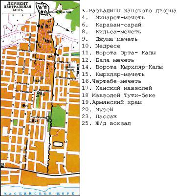 Схема города