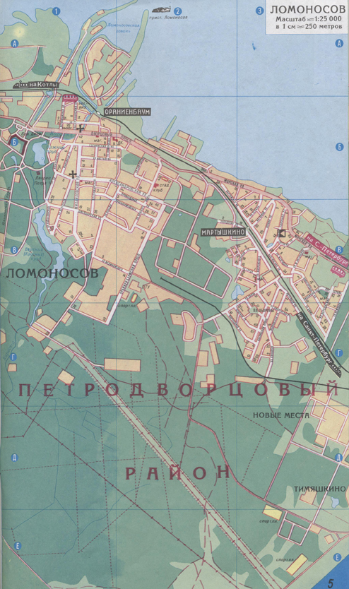 Схема окрестностей Кронштадта