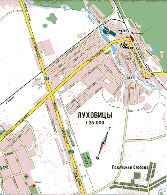 Схема центра города Белгород