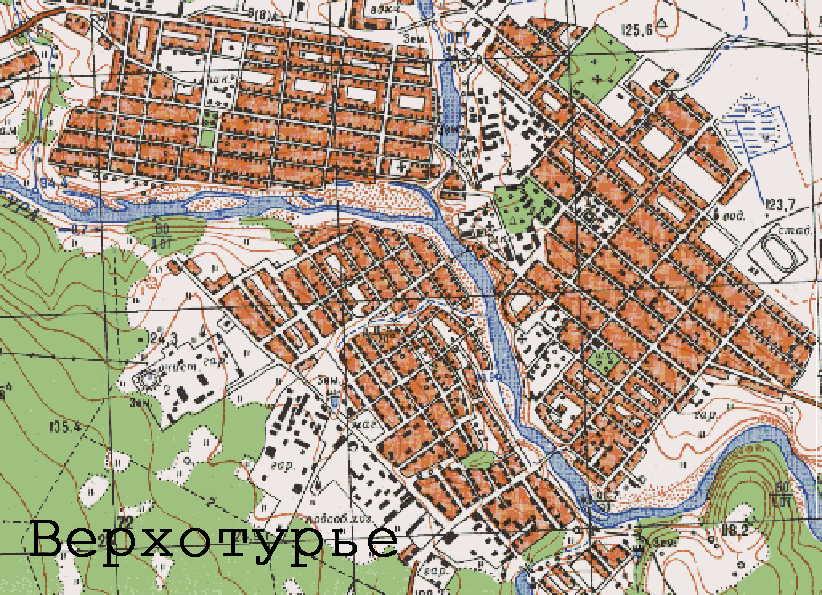 Карта города Верхотурье
